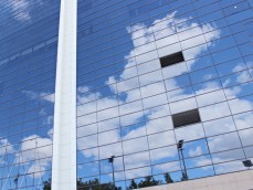 Фасад бизнес-центра, г. Москва, Тушино